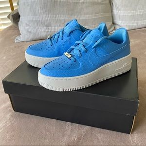 Nike Air Force Ones Blue NEW